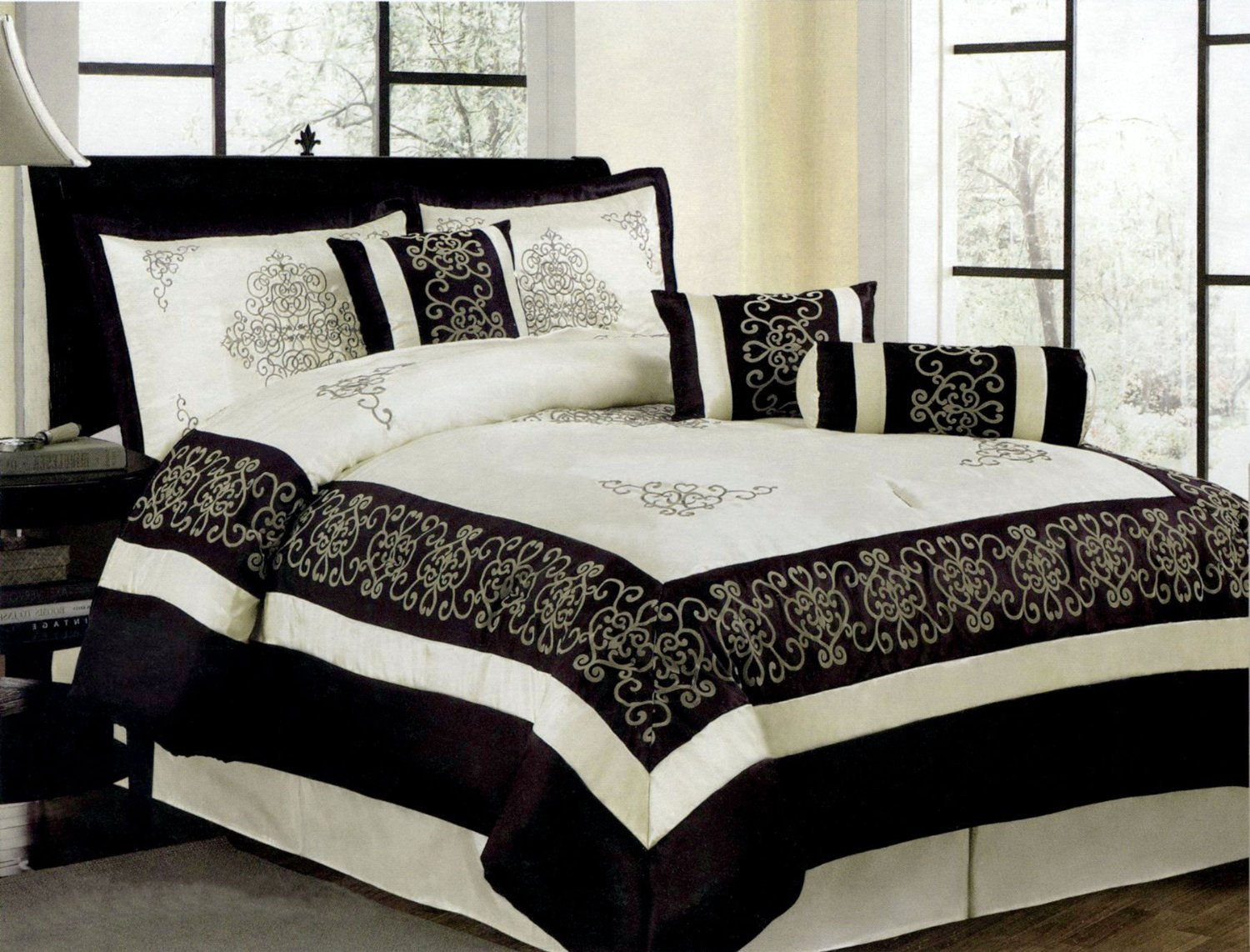 Black And Ivory Comforter & Bedding Sets