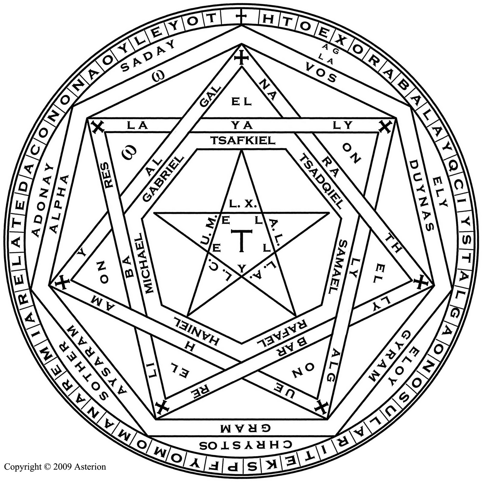 Asterion S Occult Art Seal Of God Of Truth Sigillum Dei