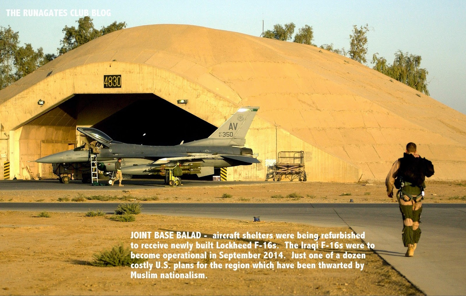Hardened shelter for F-16 aircraft - Joint Base Balad