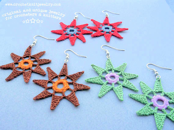 earrings crochet pattern crochet jewellery