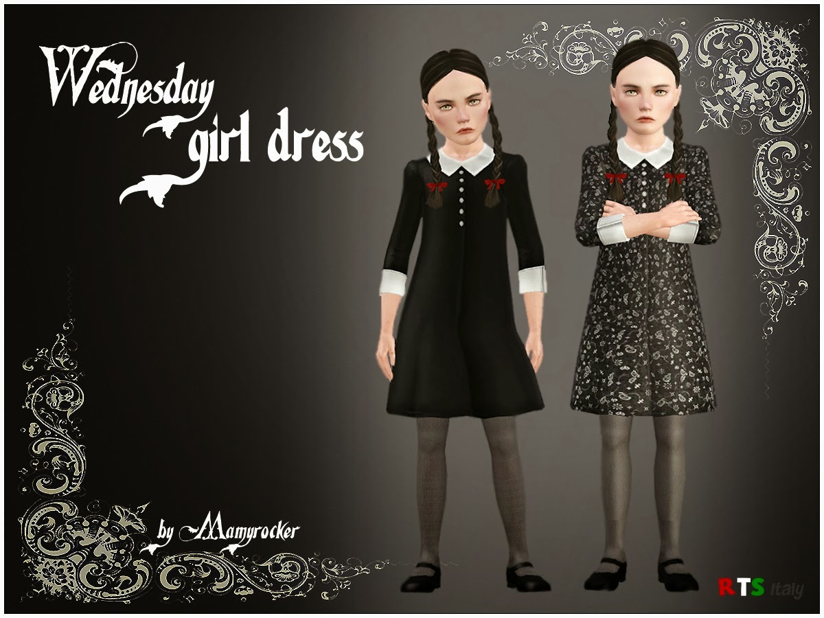 Wednesday Addams Dress Rock The Sims C J