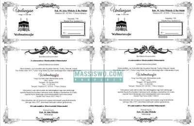 contoh undangan walimatussafar word