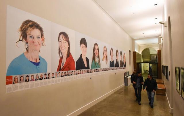 'Meet the professors' frieze in King's College, UK