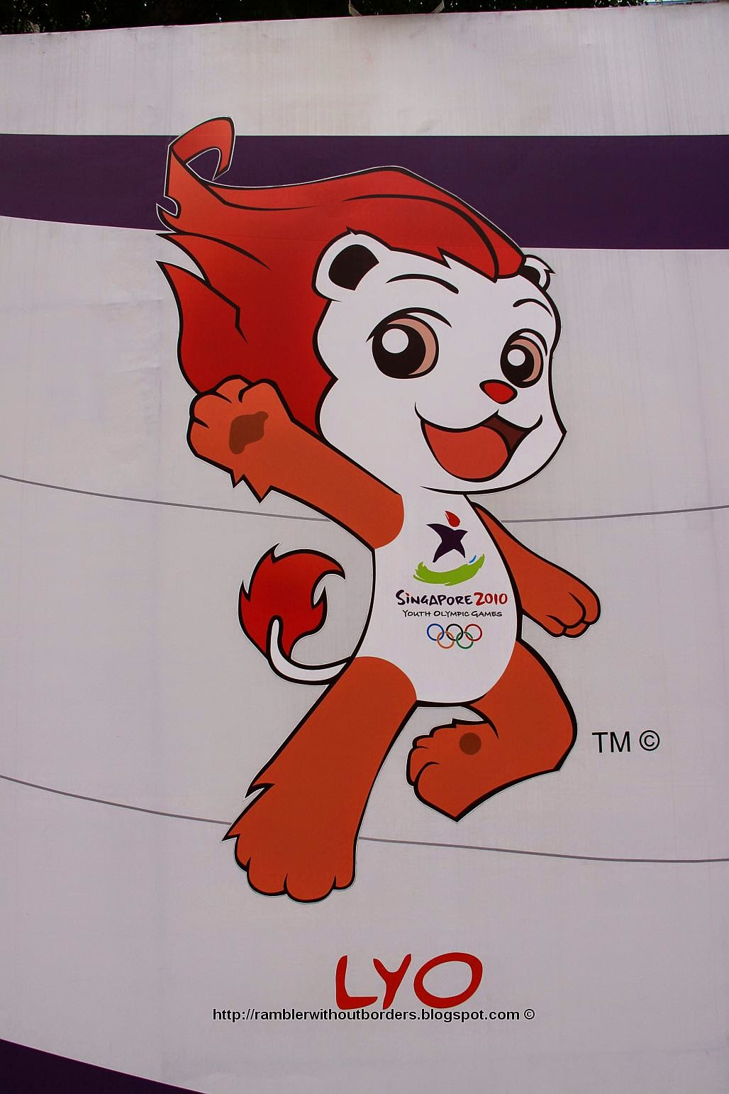 Lyo, mascots of Singapore Olympic Youth Games 2010