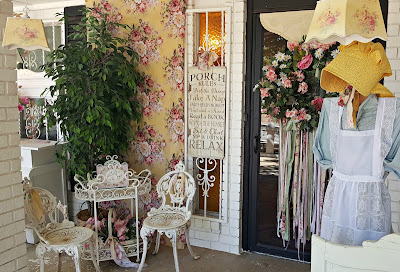 using wallpaper on the front porch decorating ideas