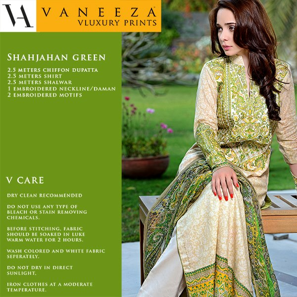 57d506856d92 Vaneeza V field has introduced latest Vaneeza V Luxury field Prints spring  assortment 2013 for ladies of Asian country. Vaneeza Ahmed has done a lot  of with ...