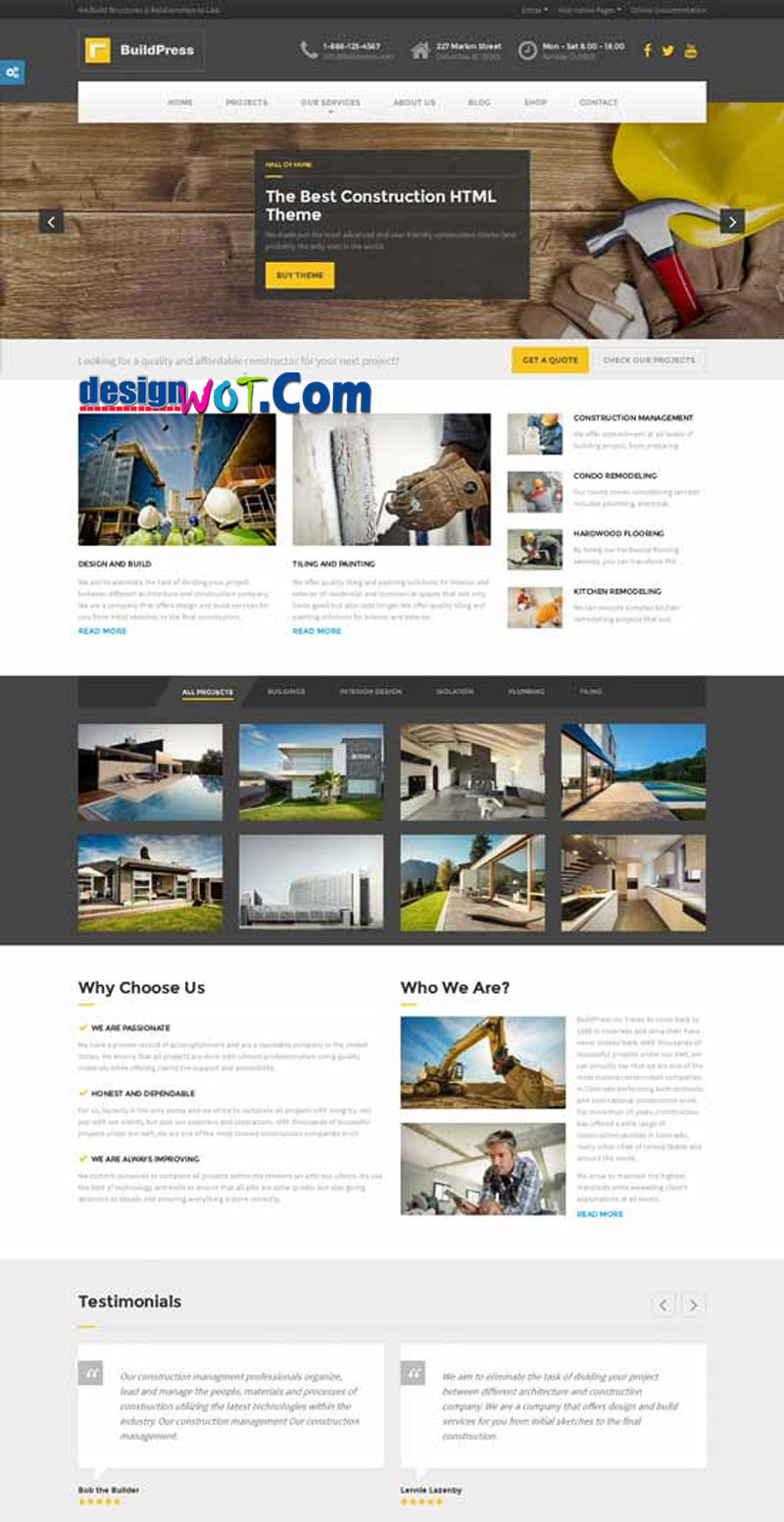 BUILDPRESS Responsive HTML Template