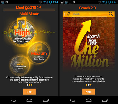 Gaana + music Android Application