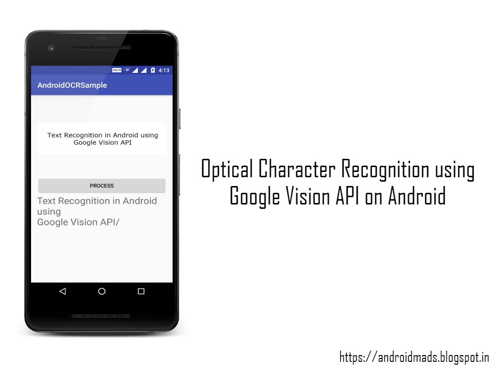 Optical Character Recognition using Google Vision API on