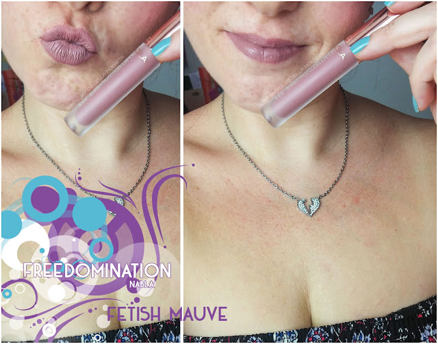 fetish mauve  lips mouth nabla cosmetics freedomination collection summer lipstick dreamy matte