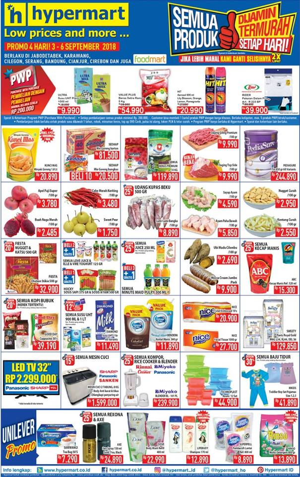 Hypermart - Katalog Promo Low Price and More Periode 03 - 06 Sept 2018