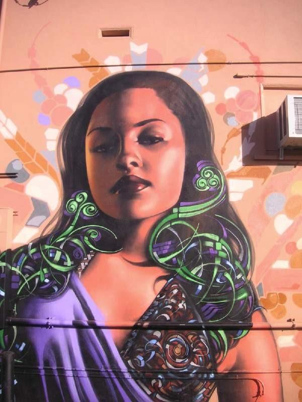 Реалистичные рисунки на стенах. El Mac 30