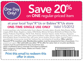 photograph regarding Babies R Us 20 Off Coupon Printable identify Kid r us discount coupons printable : Ideal get appliances clearance