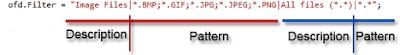 Open FileDialog Filters