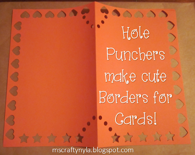 Making cards with shape borders using a hole puncher
