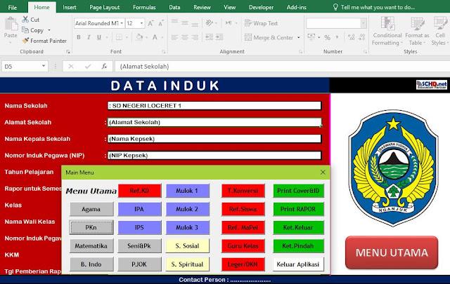 Aplikasi Excel SD/MI Kurikulum 2013