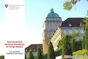 Beasiswa Pemerintah Swiss Studi S3 - Postdoktoral - Riset