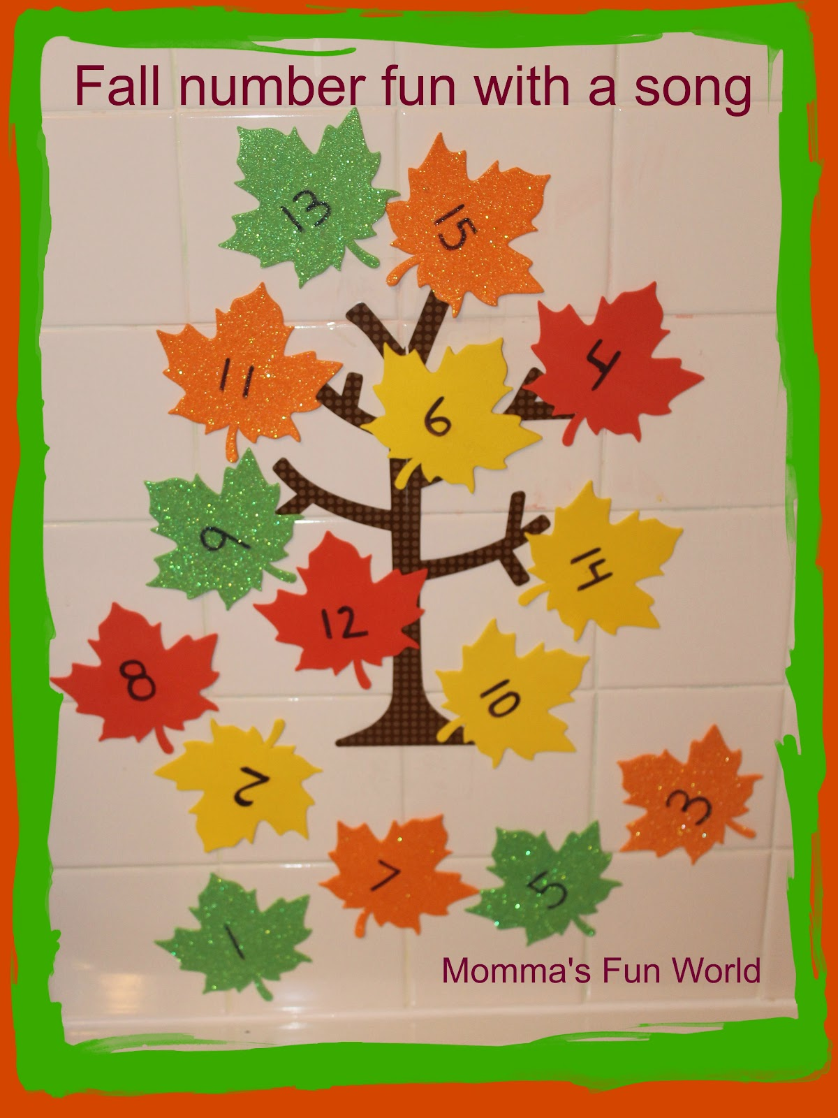 Momma S Fun World Fall Leaf Number Learning Tree Bath