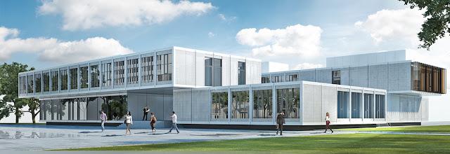 Khu trường học được xây dựng theo chuẩn quốc tế