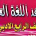 ملزمة قواعد اللغة العربية للصف الرابع الأدبي الأستاذ مصطفى البدري