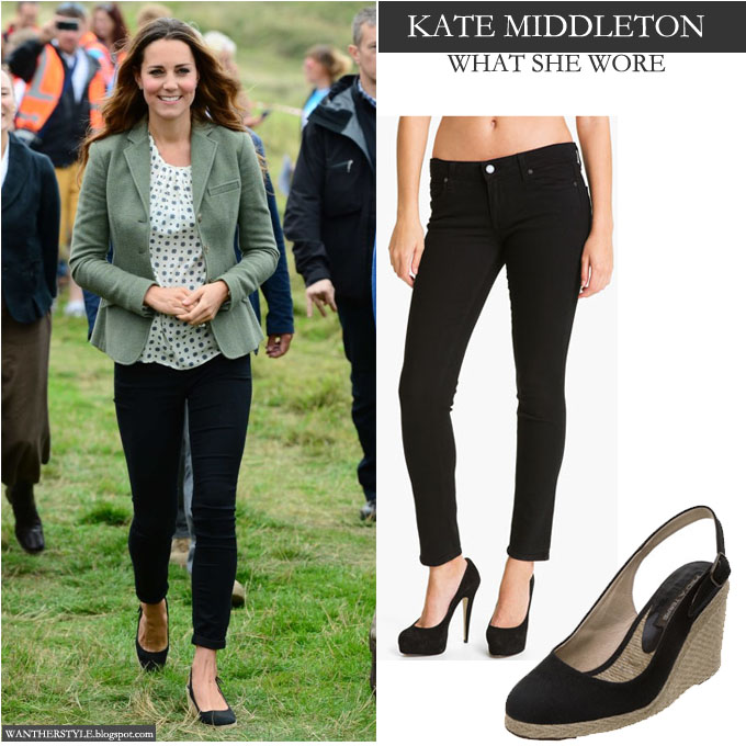 What She Wore Kate Middleton In Black Skinny Jeans With