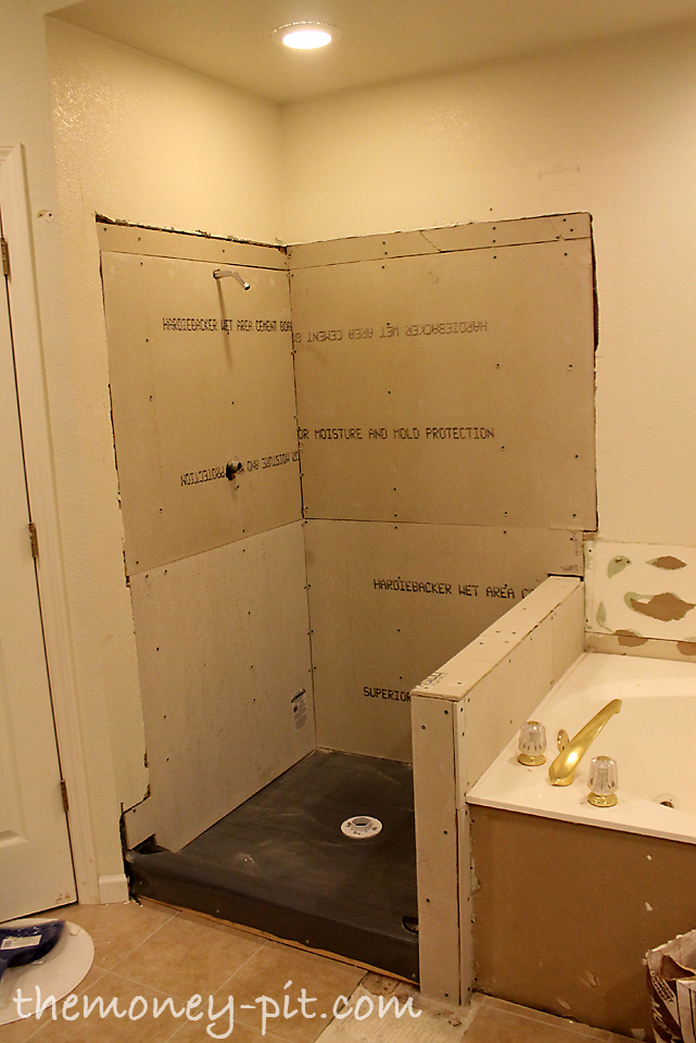 Master Bathroom Days 8-10: Shower Walls and Final Shower Pan - The ...