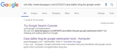 Gambar artikel terindeks oleh google