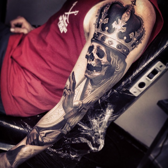 skeleton king tattoo geek ideas for best tattoos
