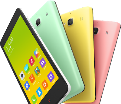 Xiaomi Redmi 2 Pro Spesifications - LAUNCH Announced 2015, August DISPLAY Type IPS LCD capacitive touchscreen, 16M colors Size 5.5 inches (~71.5% screen-to-body ratio) Resolution 1080 x 1920 pixels (~403 ppi pixel density) Multitouch Yes  - MIUI 7.0 BODY Dimensions 152 x 76 x 8.3 mm (5.98 x 2.99 x 0.33 in) Weight 160 g (5.64 oz) SIM Dual SIM (Micro-SIM, dual stand-by) PLATFORM OS Android OS, v5.0 (Lollipop) CPU Octa-core 2.0 GHz Cortex-A53 - Redmi Note 2 Octa-core 2.2 GHz Cortex-A53 - Redmi Note 2 Prime Chipset Mediatek MT6795 Helio X10 GPU PowerVR G6200 MEMORY Card slot microSD, up to 32 GB (dedicated slot) - Chinese version only Internal 16 GB, 2 GB RAM - Redmi Note 2 32 GB, 2 GB RAM - Redmi Note 2 Prime CAMERA Primary 13 MP, f/2.2, phase detection autofocus, LED flash Secondary 5 MP, f/2.0, 720p Features Geo-tagging, touch focus, face/smile detection, HDR, panorama Video 1080p@30fps NETWORK Technology GSM / HSPA / LTE 2G bands GSM 900 / 1800 / 1900 - SIM 1 & SIM 2 3G bands HSDPA 850 / 900 / 1900 / 2100  TD-SCDMA 4G bands LTE band 1(2100), 3(1800), 7(2600), 38(2600), 39(1900), 40(2300), 41(2500) Speed HSPA, LTE Cat4 150/50 Mbps GPRS Yes EDGE Yes COMMS WLAN Wi-Fi 802.11 a/b/g/n/ac, dual-band, WiFi Direct, hotspot Infrared Port Yes GPS Yes, with A-GPS, GLONASS, BDS USB microUSB v2.0, USB On-The-Go Radio Stereo FM radio Bluetooth v4.0, A2DP, LE FEATURES Sensors Sensors Accelerometer, gyro, proximity, compass Messaging SMS(threaded view), MMS, Email, Push Mail, IM Browser HTML5 Java No SOUND Alert types Vibration; MP3, WAV ringtones Loudspeaker Yes 3.5mm jack Yes BATTERY  Removable Li-Po 3060 mAh battery Stand-by Up to 144 h (3G) Talk time Up to 11 h 30 min (3G) Music play Up to 46 h MISC Colors White, blue, yellow, pink, mint green  - Fast battery charging - Active noise cancellation with dedicated mic - MP4/H.264 player - MP3/WAV/eAAC+ player - Photo/video editor - Document viewer