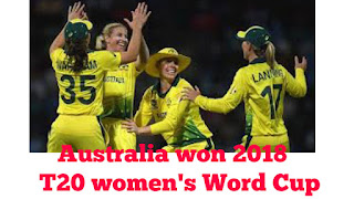 Australia won T20 world cup 2018