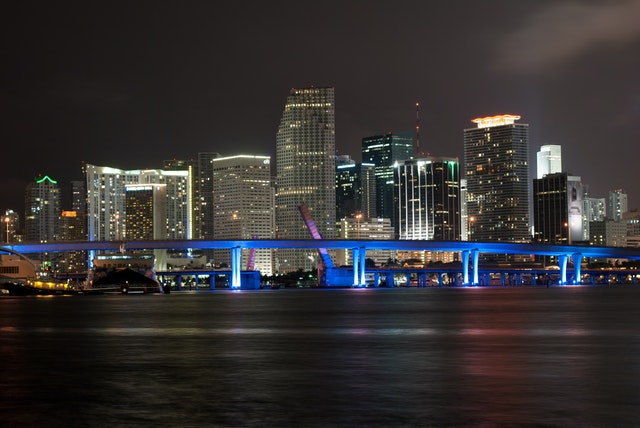 Cityscape of Florida at night