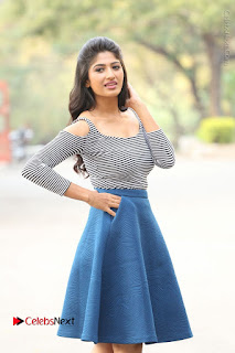 Telugu Actress Roshini Prakash Stills Short Dress at Saptagiri Express Release Press Meet  0215.JPG