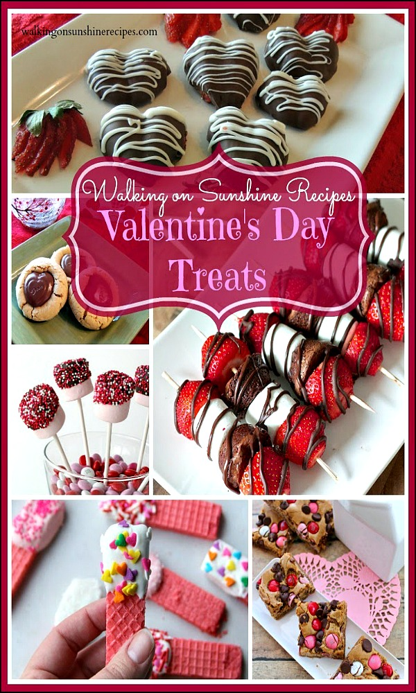 EASY Valentine's Day Treats from Walking on Sunshine