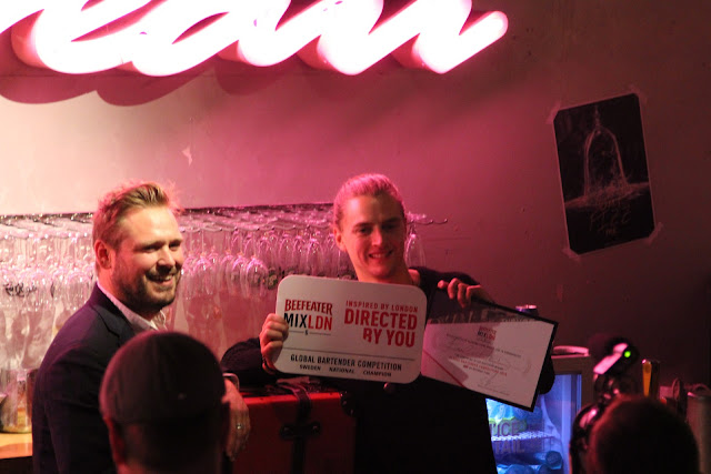 Emil Hed wins Swedish Beefeater MIXLDN cocktail competition, Trader Magnus