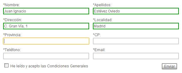 neo 2.0 - Validación de campos de un formulario con SpryAssets - 2