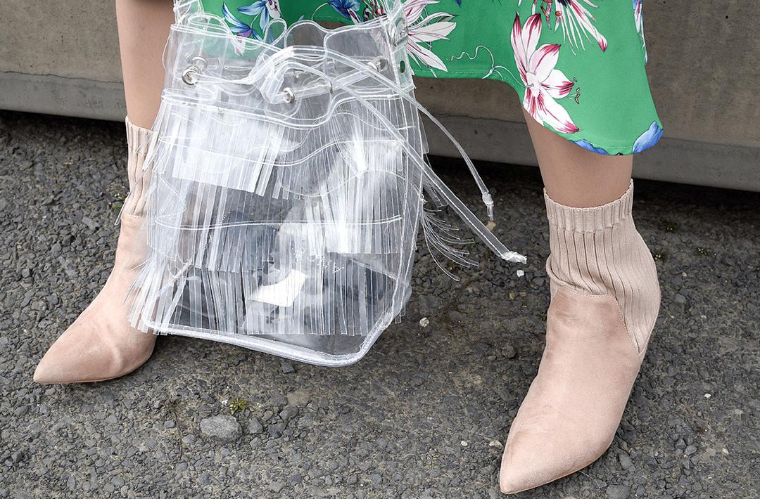 Durchsichtige Platik Handtasche, Caline Trage Tasche, Karl Lagerfeld Transparent