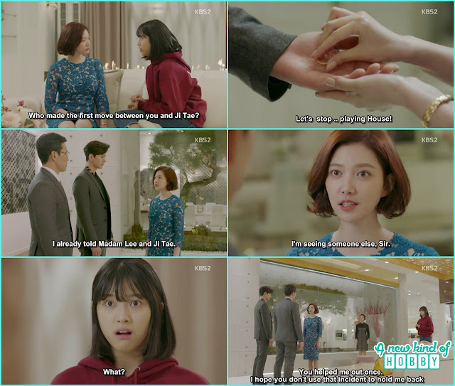 jeon Eun took off the engagment ring and gave it to Ji Taek  - Uncontrollably Fond - Episode 16 Review