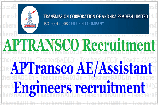 APTRANSCO AE posts, Assistant Engineers recruitment 2017, Apply online
