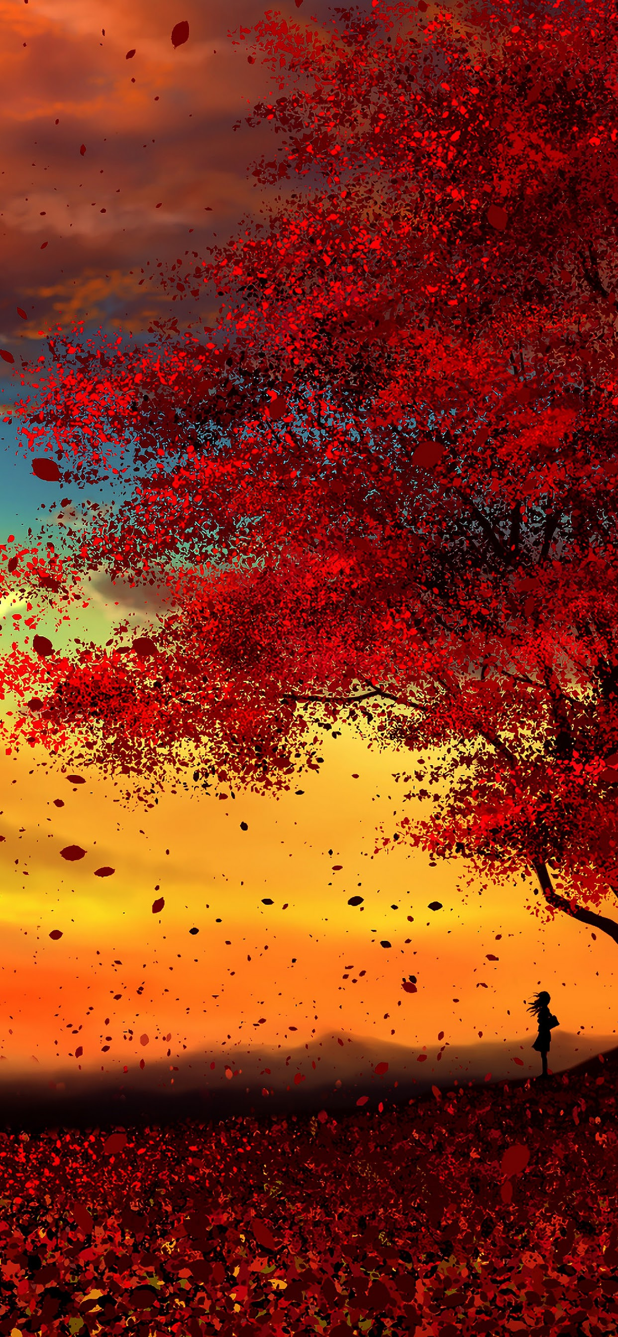 Anime Autumn Scenery Sunset 4k Wallpaper 46