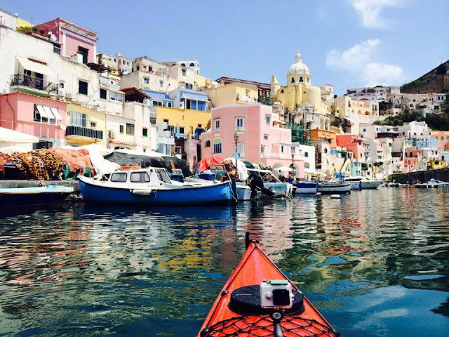 Corricelle, Kayak, ASD Kayak Procida, Italy hidden gem, Procida