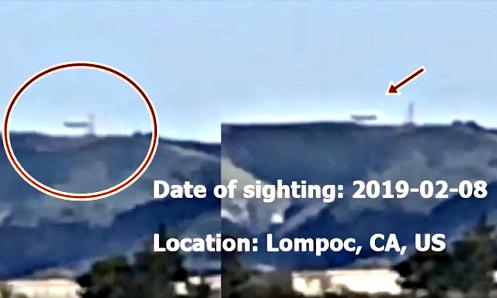 Avvistamento UFO in California
