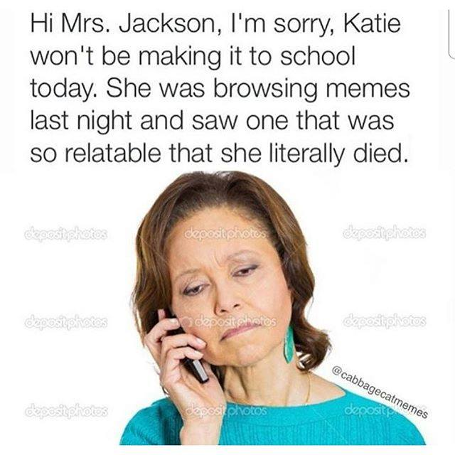 so relatable that she literally died
