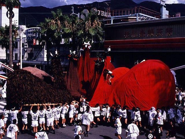 Uwajima Bull-Ogre Event, Uwajima City, Ehime Pref.