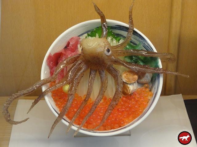 Donbori avec une tête de calamar