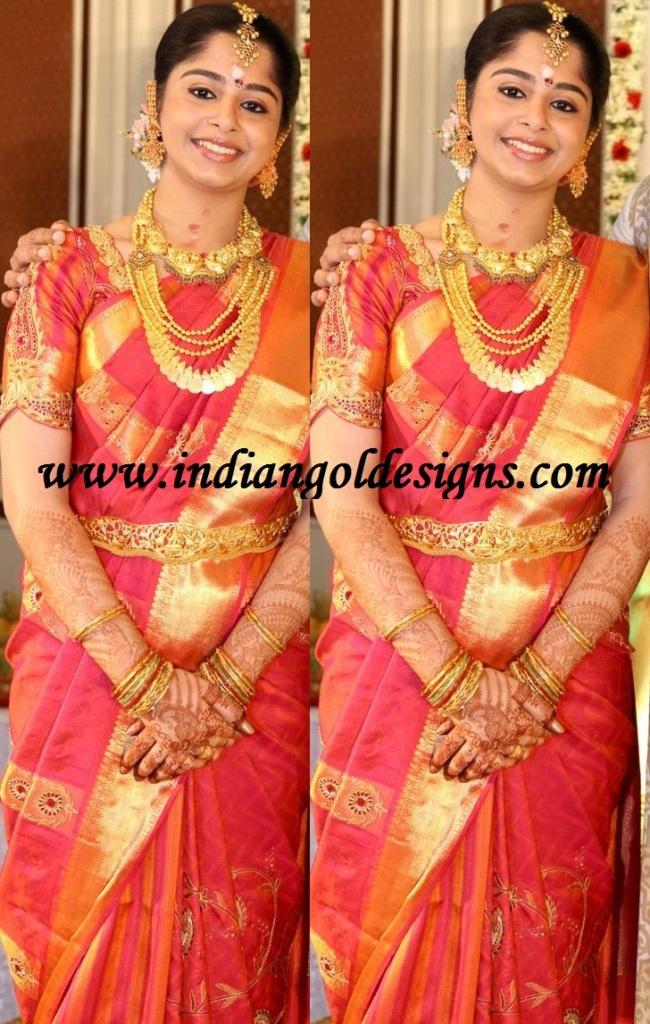 Gold And Diamond Jewellery Designs Kasulaperu And Vaddanam