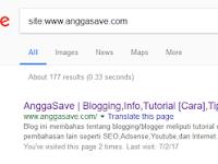 Cara Melihat Blog Sendiri di Pencarian Google - Apakah Sudah diindex?