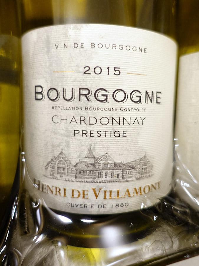 Henri de Villamont Prestige Bourgogne Chardonnay 2015 (89 pts)