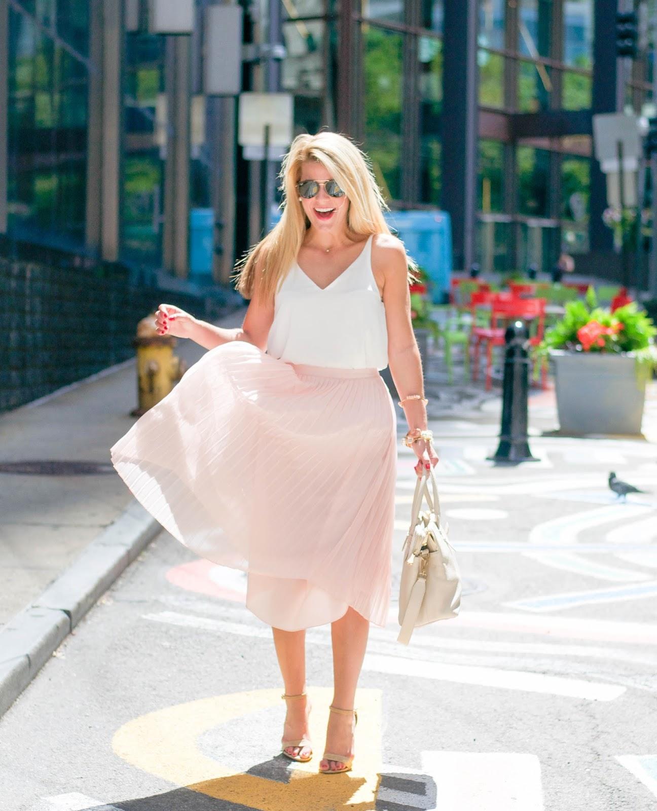 Summer Wind: Pleated Maxi Skirt
