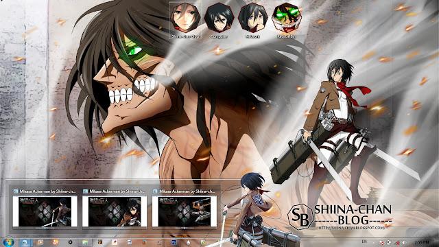 Download Tema Windows 7 Mikasa - Shingeki no Kyojin