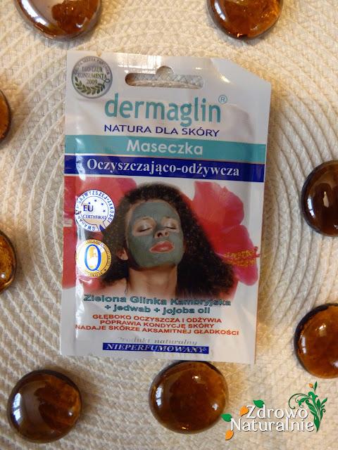 Dermaglin, Maseczka oczyszczająco – odżywcza z zieloną glinką kambryjską, jedwabiem i olejkiem jojoba